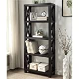 Coaster 4-Shelf Humfrye Bookcase, Cappuccino Finish