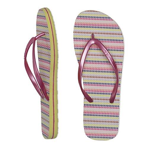 O'Neill Ladies FTW Moya Stripe Sole Flip Flop Sandal Blue Pink