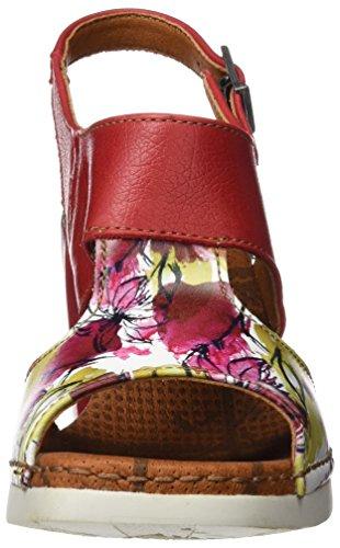 ART 0546 Fantasy Cannes, Sandalias con Tira de Tobillo para Mujer Varios colores (Flowers)