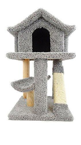 New Cat Condos Premier Mini Cat Pagoda House, Gray