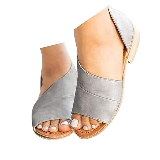 797765e34659b Amazon.com: Veodhekai Womens Flats Shoes Side Open Cover Heel Retro ...