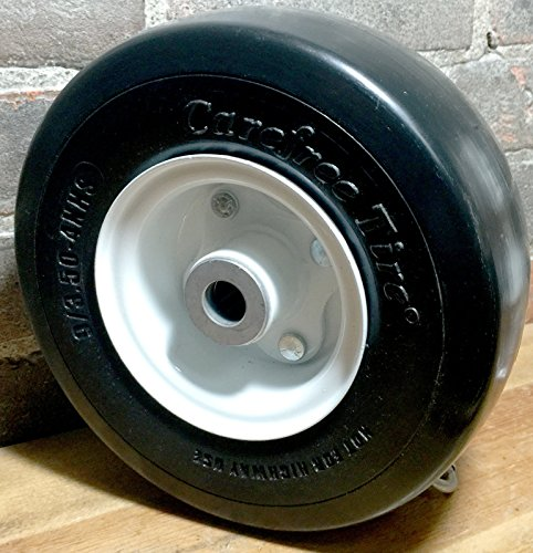 Martin Wheel 9x3.50-4 Carefree Solid Tire & Wheel Deck Caster 3/4