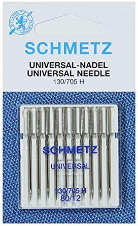 Agujas para Máquina de Coser Schmetz - Universal (Regular / Ordinario), Tamaño: 80/12 - Paquetes de 10 - Paquete Único - Bulk Descuento Deals para Gran Ahorro - hasta 30 Agujas GRATIS