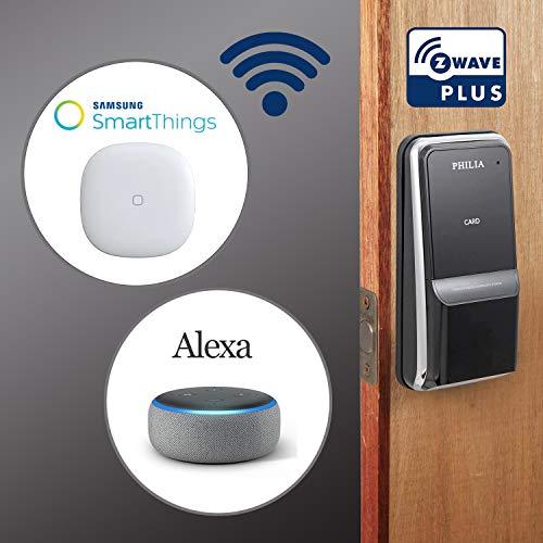 (Philia PDS-100Z Smart Keyless Door Lock with Z-Wave (Compatible with Alexa, Smartthings), Digital Keypad Password, RFID, Door Locks for Office Home)