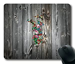 Beautiful Deer On Wood Fashion Masterpiece Limited Design Oblong Mouse Pad by Cases & Mousepads