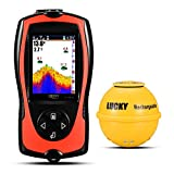 Luckylaker Portable Fishing Sonar Fish Finder Sensor 45M Water Depth High Definition LCD