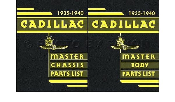 1935-1940 Cadillac Parts Book Reprint 2 Volume Set: Faxon Auto