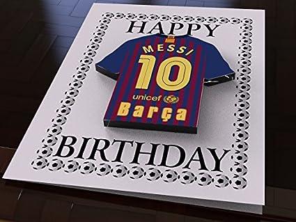 Tarjeta de la Liga – Diseño: fútbol Español mannschafts Camiseta, tarjeta de cumpleaños, mujer hombre infantil, - Barcelona FC Football Team