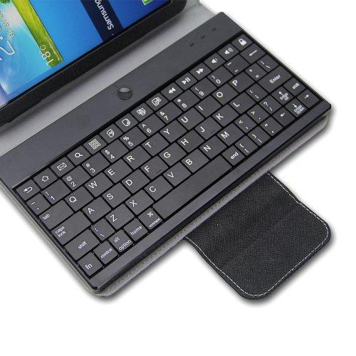 NEWSTYLE Black Slim Detachable Wireless Bluetooth Keyboard PU Leather Folio Case Cover For Samsung Galaxy Tab 3 7 inch P3200