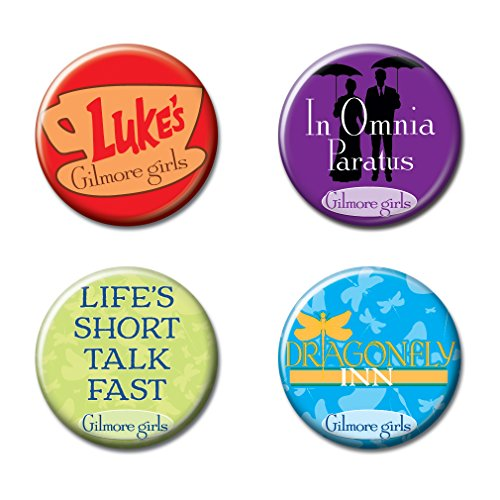 """Price comparison product image Ata-Boy Gilmore Girls Assortment 3 Set of 4 1.25"""" Collectible Buttons"""