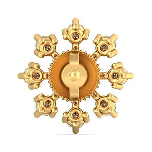 14K Or jaune 0,46CT TW White-diamond (IJ | SI) Boucles d'oreille à tige