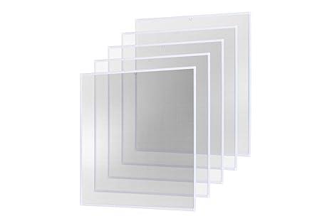 Fliegengitter Alurahmen 120x140 Braun Insektenschutz Fenster Gitter