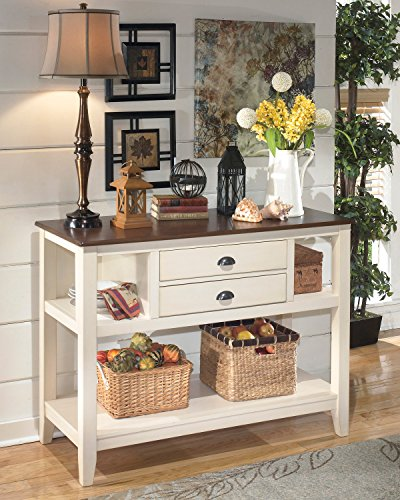 Signature Design by Ashley D583-59 Whitesburg Collection Dining Room Server, Brown Cottage White