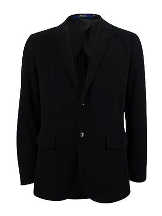 b5e62305f8c3a Ralph Lauren Polo Men s Knit Cotton-Blend Blazer - -  Amazon.co.uk ...