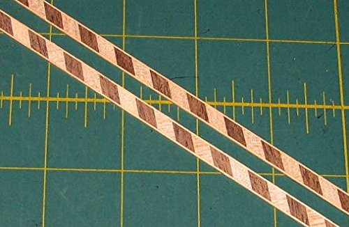 Walnut/Maple Real Wood Inlay Banding Strips (Lot of 2) 1/4 X (Veneer Walnut Strips)