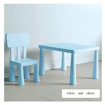 SSHHM Juego de escritorio y silla para niños,Mesa de estudio,Verde ...