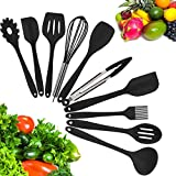 #4: 10 Piece Silicone Kitchen Utensil Set by Kuger, Nonstick & Heavy Duty Silicone Cooking Utensil Set(Black)