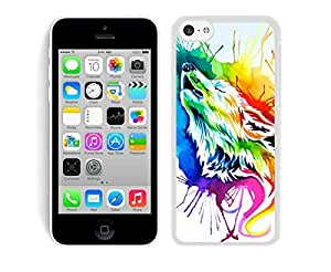 Rainbow wolf iPhone 5C Case White Cover