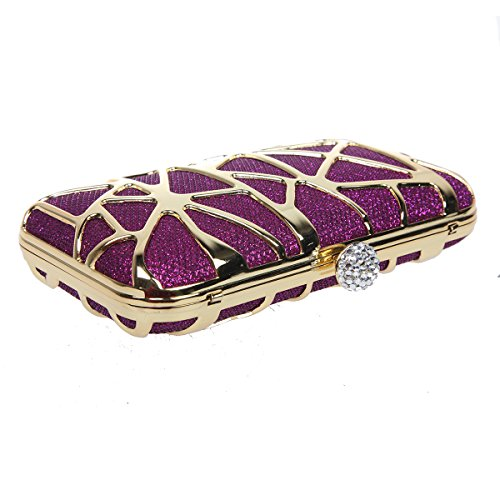 Box Clutches Girls Purple Purses Evening Bonjanvye Cube Water Special for twpqXcH7