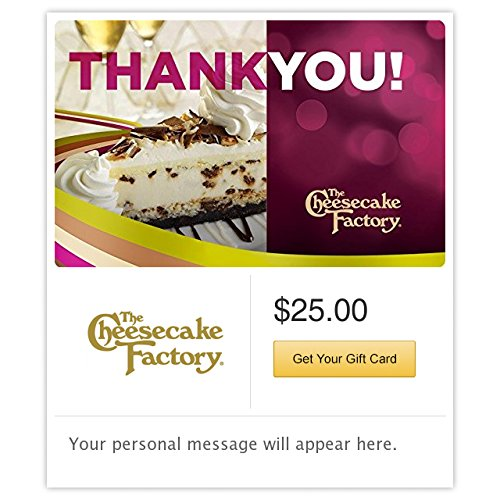 The Cheesecake Factory Thank You Cheesecake Gift Cards - E-mail Delivery