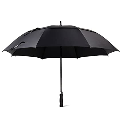 Golf Umbrella, Large Windproof Umbrella for Men, 62 Wind Resistant Umbrella Auto
