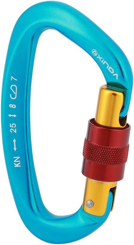 Grigio Nosii d-Shape Alpinismo Professionale Arrampicata su Roccia Blocco di Sicurezza moschettone Accessori Protezione Clip