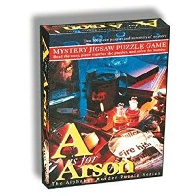 TDC Games Alphabet Mystery 500 Piece Jigsaw Puzzle - A Is For Arson: Toys & Games