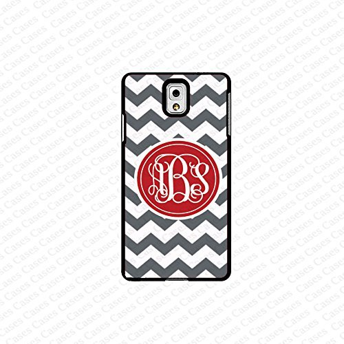 krezy case monogram Galaxy Note 4 case- monogram Personalized gray chevron samsung Galaxy Note 4 case- fits note...