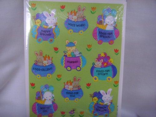 Vintage Hallmark Spring Easter Bunny Rabbit Reward Stickers Scrapbooking ; 1 sheet