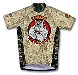 usmc cycling - Primal Wear Devil Dog U.S. Marines Cycling Jersey Men's Medium Short Sleeve USMC USA Military