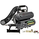 Professional Woodworker 8682 18 Gauge Brad Nailer with 2 Gallon Twin Stack Compressor Combo Kit