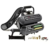 portable air compressor combo kit - Professional Woodworker 8682 18 Gauge Brad Nailer with 2 Gallon Twin Stack Compressor Combo Kit