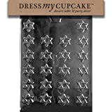 Dress My Cupcake DMCR005 Chocolate Candy Mold, Bite Size Star of David