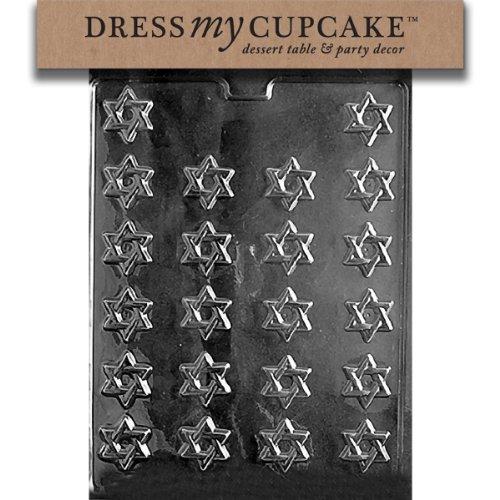 Star Of David Candy Mold (Dress My Cupcake DMCR005SET Chocolate Candy Mold, Bite Size Star of David, Set of 6)