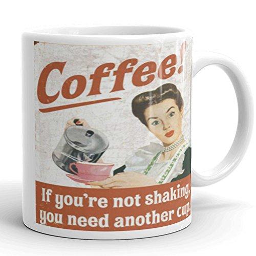 Self Stirring Coffee Mug Gift Set of 5 (Red) - 1