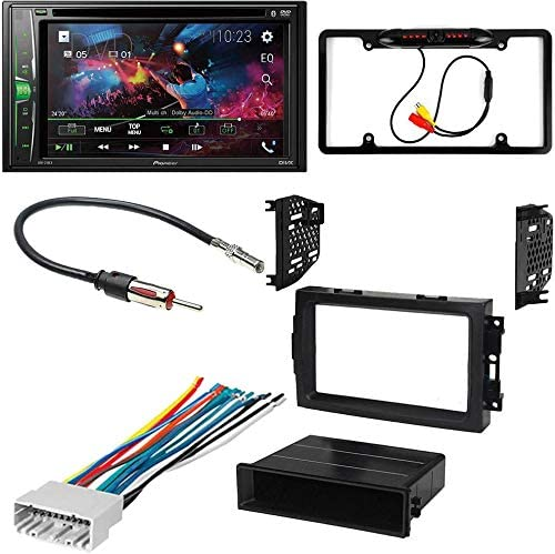 CACH/É KIT4707 Bundle for 2007 2008 Jeep Compass W//Car Stereo with Bluetooth//Backup Camera//Installation Kit//in-Dash DVD//CD AM//FM 6.2 WVGA Touchscreen Digital Media Receiver 5Item