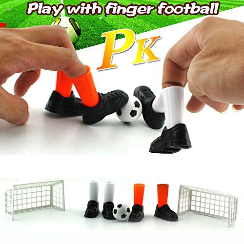 Wffo Ideal Party Finger Soccer Match Toy Funny Finger Toy Game Sets with Two Goals (Colorful)