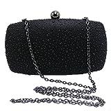 DMIX Womens Crystal Box Clutch Evening Bags