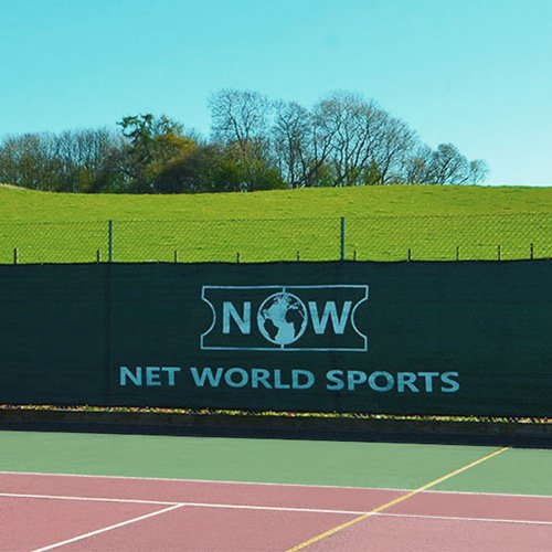 Tennis Court Windscreen/Privacy Screen - 60' x 6.5' [Superior Finish] – Black Net World Sports