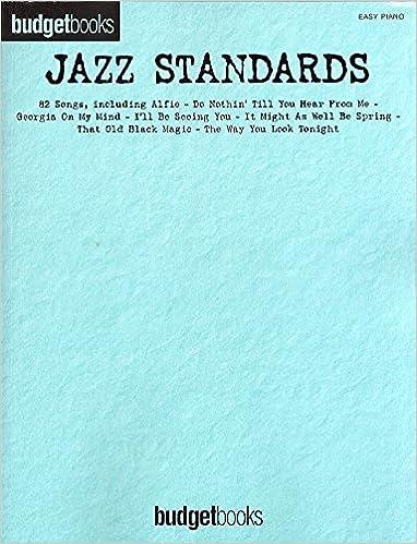 Budgetbooks: Jazz Standards Easy Piano . Partituras para Piano ...