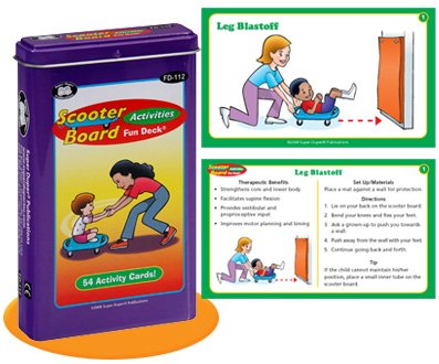 Super Duper Publications Scooter Board Activities Fun Deck Flash Cards Educational Learning Resource for Children by Super Duper Publications