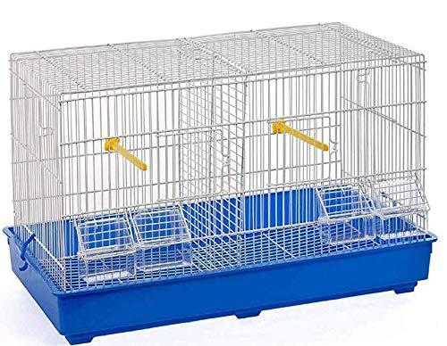 Jaula de cría 3 para pájaros, canarios, papagayos, de metal, 58 x 32 ...