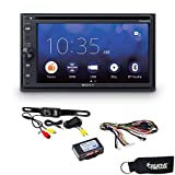 Sony XAV-AX210SXM CarPlay & Android Auto Compatible Receiver + Rear View Camera + Steering Wheel Control Interface
