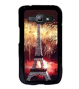 Fuson Premium 2D Back Case Cover Eiffel tower With Multi Background Degined For Samsung Galaxy J1::Samsung Galaxy J1 J100F