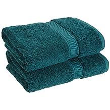 Superior 900 Gram 100% Premium Long-Staple Combed Cotton 2-Piece Bath Towel Set, Teal