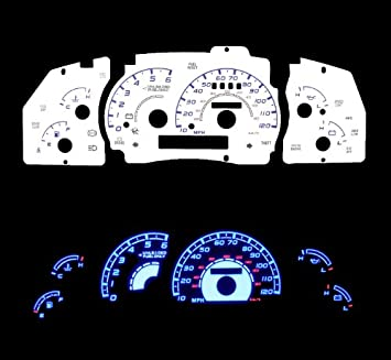 Amazon.com: White Glow Light Glow Gauge for 95-01 Ford Ranger w/Tach: Home  ImprovementAmazon.com