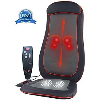 Amazon Com Idodo Shiatsu Full Back Massage Seat Cushion
