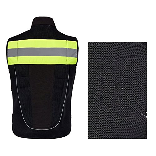 Orange XL A.B Crew Reflective Motorcycle Biker Vest with Pockets High Visibility Base Safety Vest for Cycling Sport Street Racing