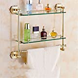 LAONA European zinc alloy, golden carved base, bathroom fittings, toilet paper rack, soap dish,Rack 2