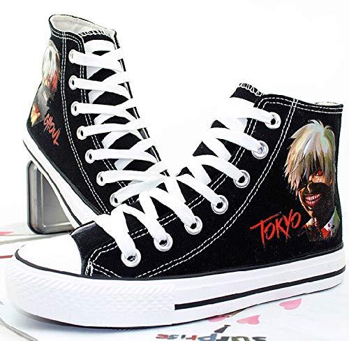 fce651994624d Telacos Tokyo Ghoul Anime Kaneki Ken Cosplay Shoes Canvas Shoes ...